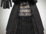 中老年男装加绒加厚外套 翻领呢子风衣带毛领 单排扣中长款呢大衣