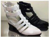 厂家直销2014春夏新款真皮凉鞋罗马中高跟镂空细带女单鞋 9NM11