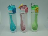 厂家供双层防烫新款塑料太空杯 休闲杯 广告礼品 密封杯