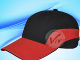 棒球帽 红黑拼色款 时尚休闲广告帽 遮阳帽鸭舌帽 多色DIY