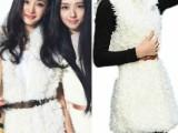 2013秋冬装新款林萧小时代杨幂同款白色羊羔毛马甲外套女宽松F