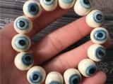 猛犸象牙1.5蓝眼睛手串手链15mm猛犸蓝眼睛手串
