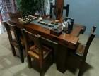 老船木茶桌椅组合简约休闲古典泡茶桌厂家直销