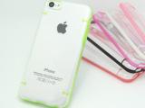 透明夜光 iphone 5C手机壳 苹果5C 边边夜光保护套 后