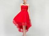 伴娘团礼服短款姐妹裙小礼服2015新款韩版新娘礼服敬酒服红色夏季