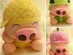 麦兜水果猪 毛绒玩具 大号三顺猪 可爱生日礼物创意礼物一件代发