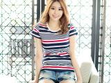2014新款 韩版修身 短款t恤女