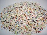 公司供应圆柱状塑料制品毛边倒刺处理材料进口树脂砂