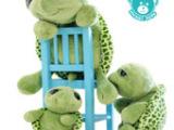 中国河北毛绒玩具乌龟公仔 大眼龟玩偶 爱情公寓曾小贤款趴趴乌龟