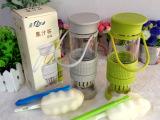 正品韩国创意玻璃柠檬杯 精巧柠檬杯 果鲜魔力瓶 榨汁杯 喝水神器