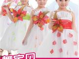 舞宝贝新款儿童舞蹈裙公主大花纱裙现代舞主持人小礼服演出服