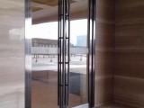 太原做修玻璃门楼层玻璃隔断公司隔断上单块玻璃门