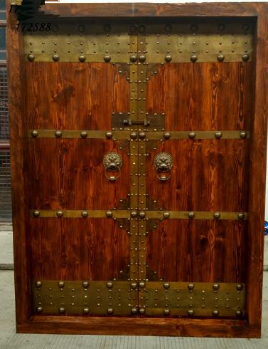 厂家定做老榆木大门庭院门仿古双开大宅门
