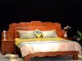 缅甸花梨雕刻大床价格