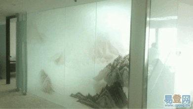 北京办公室玻璃贴膜磨砂膜腰线LOGO条刻字喷绘服务