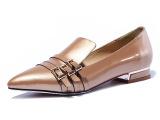 直销 欧美风 优质牛漆皮皮带扣装饰舒适牛筋软底低跟单鞋