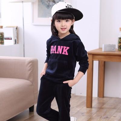 新款儿童加绒卫衣套装,自产自销一手货源