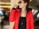 2012冬款新 修身拉链门襟 女式拼色短款羽绒棉衣批发 一件代发