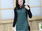 韩版修身显瘦中长款长袖T恤 大码女装冬季加厚打底衫 妈妈装 9198
