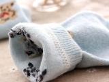 日单 小熊爱心标 兔羊毛袜子 女筒短袜