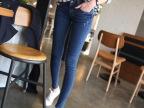 2014春季小脚牛仔长裤女裤韩版潮显瘦铅笔裤深蓝色2008