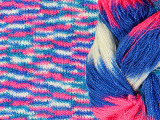 东莞市蓝美纺织 厂家直销  新型花式纱线  全晴大肚纱 段染
