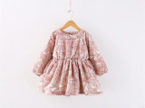 外贸童装 冬季新款 女童加厚羊羔绒连衣裙 儿童冬裙 一件代发