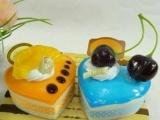 创意爱心慕斯蛋糕冰箱贴 新奇特蛋糕房促销