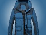 2014新款棉服男士冬季棉袄潮外套青年中长款韩版修身男式棉衣