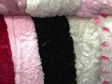 新款环保弹力舒适毛绒 时尚服装针织面料 冬季弹力超柔PU绒面料
