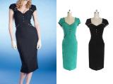 热卖新款 欧美大牌明星同款修身短袖连衣裙 欧洲正品铅笔裙