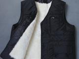 冬季中老年羊毛马甲皮毛一体男款羊皮保暖坎肩加绒加厚皮草棉背