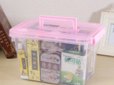 新款收纳盒多规格多容量透明箱 塑料收纳箱