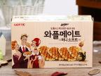 韩国进口食品批发 休闲零食 乐天煎饼蜂蜜味48g饼干 (