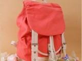 新款韩版双肩包女式帆布背包 可爱学生书包旅行包