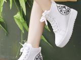 2014秋季新款时尚舒适平底帆布鞋厚底高帮休闲鞋女韩版内增高女鞋