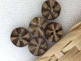 天然椰子扣 纺织辅料椰子纽扣 儿童环保纽扣 复古车轮图案纽扣