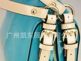 广州真皮女包定制 时尚拼色真皮女包现货零