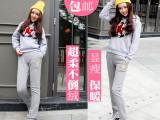 2015新款加厚加绒休闲裤女式 哈伦裤韩版大码女装运动裤女裤子