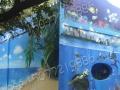 柳州壁画墙绘 动物园公园场馆围墙外墙3D自然风景画