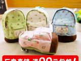 厂家直销 小清新 森女风 田园碎花迷你小书包造型 可爱书包零钱包