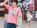 2014春夏装新款女装正品T331字母印花宽松短袖t恤女韩版纯棉上衣