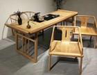 新中式茶台泡茶桌实木茶台办公桌写字桌书画桌实木家具定制