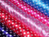 厂家直销 圆点印花色丁布 箱包服装面料里料 米奇装饰布料色丁布