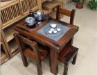 特价方形中式茶台实木客厅整装茶台船木功夫休闲茶几