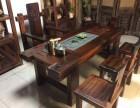 老船木机舱木茶桌 带船舵中山船木家具工厂