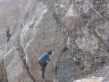 河北安平边坡防护网 钢丝绳 主动防护网 六角网