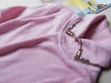 欧洲站秋冬大牌奢华风~大爱手工镶钻彼得潘领 弹力中长款打底毛衣
