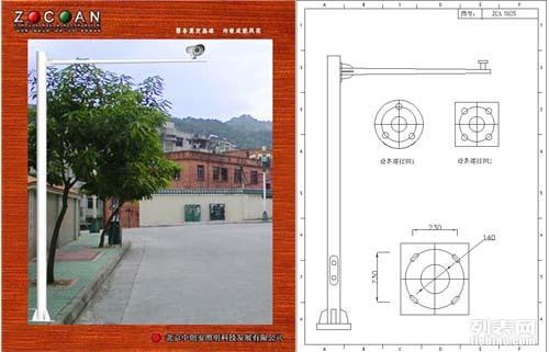交通标志杆北京中创安交通信号杆道路交警卡口杆八棱六棱 型立杆