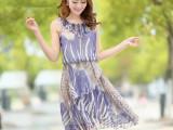 2014新款韩版大码女装气质修身欧根纱雪纺连衣裙